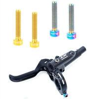 2PCS RISK MTB Brake Lever Bolts Titanium Alloy M5x25mm Bike Brake Handle Screw