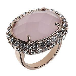 Judith Williams Damen Cocktail-Ring rosegold gold mit Kristalle 53/16,9MM groß