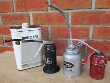 3 PUMP OILERS OIL CAN BROOKINS 335 SERVICE STATION EQUIPMENT, JOHN DEERE, RED ++