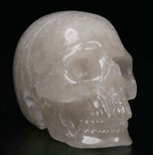 "2.0"" Quartz Rock Crystal Carved Crystal Skull, Realistic, Crystal Healing"