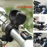 Torch Mount Bicycle Light Front Bracket Flashlight Gaskets 360 Rotation Non A2T2