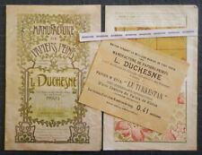 Rare MANUFACTURE DE PAPIERS PEINTS DUCHESNE JOUANNY Art nouveau Echantillons 19e
