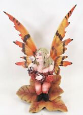 Fairy Sitting in a Leaf Blowing Bubbles Fantasy Decor