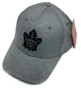 Men's Toronto Maple Leafs American Needle NHL Heathered Poly Stretch Grey Hat