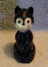 "1930's Vintage Celluloid Halloween Black Cat ""Felix"" Figurine 3-1/2 inches tall"