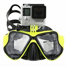 Diving Mask Scuba Snorkel Goggles with Mount for GoPro Hero 8, 7, 6, 5, 4, 3, 2