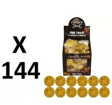 144 Or Pirate Plastique Pièces Trésor Party/Loot Sac Pinata (12 Sacs Of 12) UK