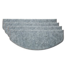 15pcs Stair Tread Carpet Mats Step Staircase Non Slip Mat Protection Cover Pads Grey