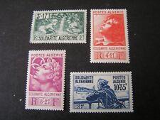 *ALGERIA, SCOTT # B47-B50(4),COMPLETE SET 1946 SEMI-POSTAL PICTORIAL ISSUE MH