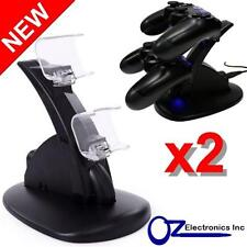2 x Dual PS4 Wireless & Wired controller charging stand USB Cable FREE SHIPPING