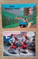 2 Carte postale TINTIN les Dupont et Meribel