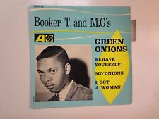 """BOOKER T. & THE M.G.'s: Green Onions +3-France 7"""" 1963 Atlantic No 222010 EP PCV"""