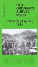 OLD ORDNANCE SURVEY MAP EDINBURGH HOLYROOD 1913 WAVERLEY STATION QUEENS PARK