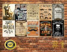 Job Lot 10 x METAL TIN SIGN WALL PLAQUE VINTAGE STYLE BARBER SHOP SIGNS #1