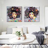 Modern African WomAn Canvas Wall Oil Painting Prints Living Room Home Decor