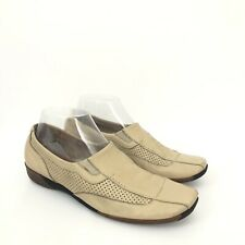 Sesto Meucci Womens Size 8 Beige Leather Slip On Shoes