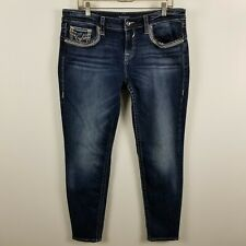 Vigoss Chelsea Skinny Womens Dark Wash Blue Jeans Size 13/14-29