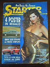 STARTER marzo 1992 - Pamela Prati, Porsche 968 cabrio, BMW 325i coupè