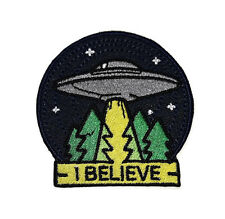 NEW BELIEVE HAVE UFO ALIEN NASA SPACE LOGO EMBROIDERED IRON ON PATCH SHIRT PO568