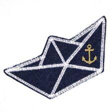 Flicken zum aufbügeln Boot 5,5x11,5 cm Jeans Flickli Aufbügler maritim Bügelbild