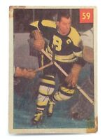 1954-55 Milt Schmidt #59 Boston Bruins Centre Parkhurst Ice Hockey Card H400