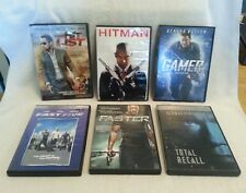 6 Action DVDs. The Hit List, Hitman, Gamer, Total, Recall, Faster, Fast Five