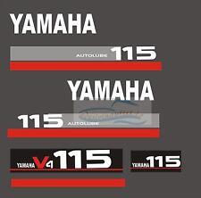 Adesivi motore marino fuoribordo Yamaha 115 hp v5 autolube   gommone barca