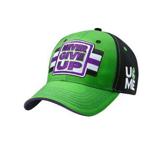 John Cena Green Purple Never Give Up WWE Baseball Cap Hat