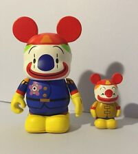 "Mickey's Circus Event 3"" & Jr Junior Set Clown Vinylmation Disney 2 Figures"