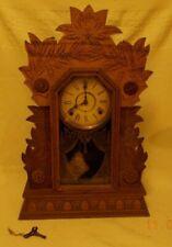 """Antique """"Laurel No 3"""" Wm. L. Gilbert Mantel Shelf Clock.  From an estate."""
