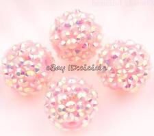 5/10Pcs Acrylic Crystal Rhinestones Pave Clay Disco Ball Round Loose Bead Making