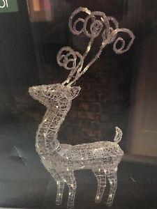 Christmas Warm White Indoor & Outdoor Light Up Reindeer 93 Cm High Decoration