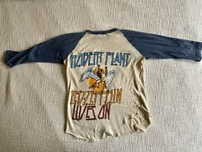 Rare Original Vintage Led Zeppelin Robert Plant Concert Tour Tee Shirt Baseball