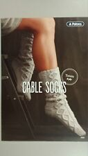 Cable Socks Leaflet 0020 Patons - Knitting Crochet Sewing Patterns