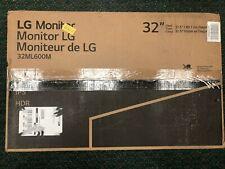 LG 32ML600M-B 32ML600M IPS Monitor Full HD IPS Brand New Sealed Free Shipping!
