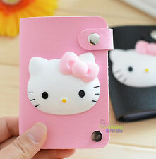 Cute Hello Kitty PU ID Credit Card ID Card Holder Business Card Case