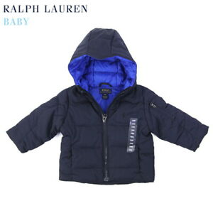 Polo Ralph Lauren Baby Hooded Down Puffer Jacket Coat with Pony - size 9m to 24m