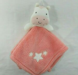 Baby Gear Unicorn Lovey Security Blanket Plush Pink White Stars Soft Blankie
