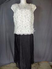 Alex Evenings Sleeveless Mock 2-Piece Lace Tea Length Event Dress size 20W