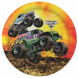 Monster Truck Jam Dessert Plates Grave Digger Birthday Party Supplies 8 Ct