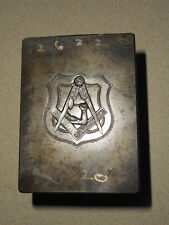 Freemason Vector Symbol Jewelry Stamping Die Hob Hub Steel Mold w/ Arm & Hammer