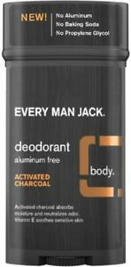 Activated Charcoal Deodorant by Every Man Jack, 2.7 oz 1 pack