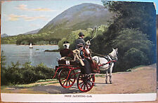 Irish Postcard JAUNTING CAR Killarney Ireland Lawrence No. 8213 Inland Germany