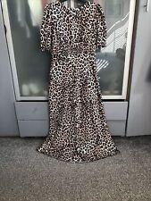 Womens Asos Midi Leopard Print Dress Uk Size 14