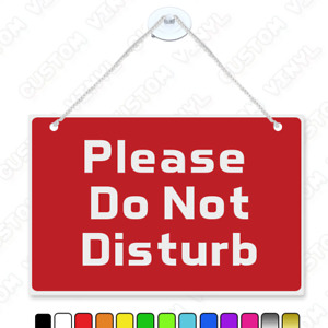 Please do not disturb hanging plastic sign with nylon rope+suction cup office