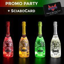 PROMO PARTY - pack 4x Bottiglie Illuminate Aperitivo Spumante Fruttato 0,75L