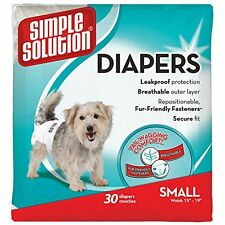 Simple Solution Comfortable Disposable Male Dog Diapers 30  Count Small Size Pet