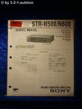 Sony Service Manual STR N500 / N600 Receiver  (#0891)