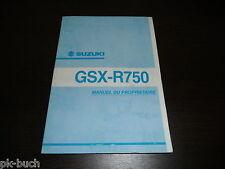 Manual Del Propietario Suzuki GSX-R750 Stand 06/2001