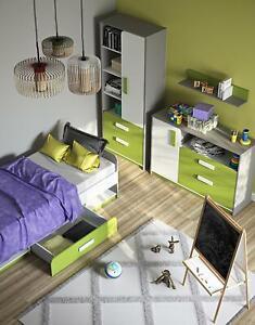 Kid's Room Child's Room Bedroom Furniture Complete Set Chest Cabinet 4tlg